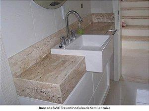 BANCADA BANHEIRO CUBA SEMIENCAIXE