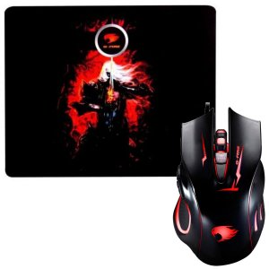 KIT MOUSE GAMER MOGT2 + MOUSE PAD GFIRE
