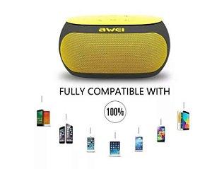 Original Caixa De Som Awei Y200 Wireless Recarregável