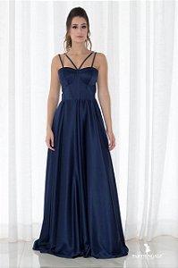 Vestido com Corpete Estruturado - Farthingale