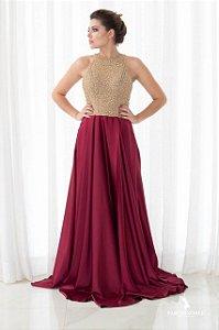 Vestido Gola Alta Ragan Bordado - Farthingale
