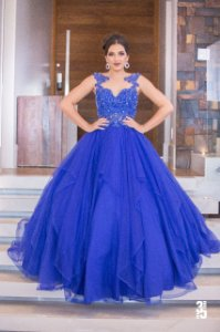 Vestido Debutante Corpete estruturado - Farthingale
