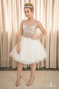 Vestido Debutante Busto Bordado - Farthingale