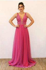 Vestido Tulê Bordado - Farthingale