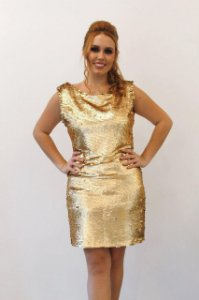 Vestido Curto Paetê - Farthingale