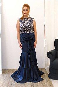 Vestido  Decote Careca - Farthingale