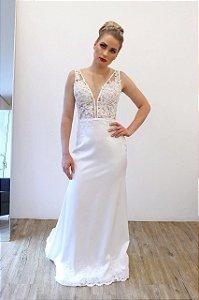Vestido Noiva Rendas - Farthingale