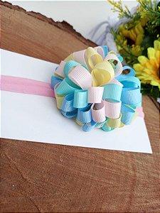 Laço faixa Pompom grande color