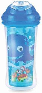 Copo  Nûby Térmico com Bico de Silicone, Azul ceú