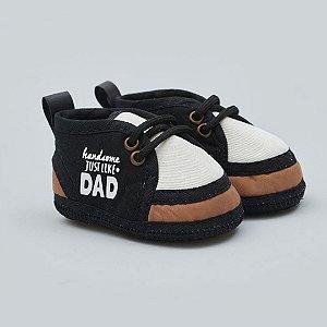 Tênis Essencial Cadarço Preto Dad  Baby