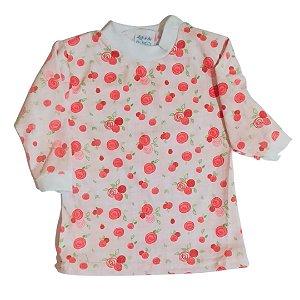Camiseta manga longa estampada Flores