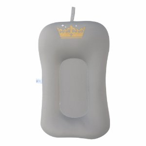 Almofada de Banho e Ninho Coroa - Cinza Claro