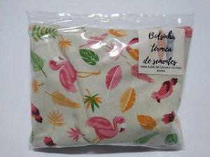 Bolsinha Térmica de Sementes - Flamingo - SEU BEBÊ SEM CÓLICA