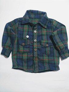 Camisa Xadrez Manga Longa - Verde