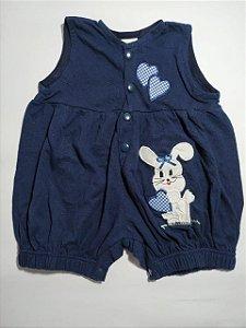 Jardineira azul coelho
