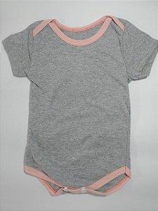 Body Cinza detalhe rosa