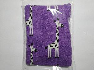 Bolsinha Térmica de Sementes - Girafa roxo - SEU BEBÊ SEM CÓLICA