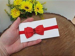 Laço Gravatinha Duplo Vermelho