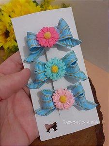 Laço Hairclip Floral 1