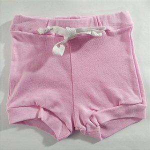 Shorts Malha Liso Rosa