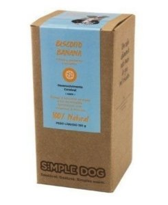 Biscoito para Cães sabor Banana 150g - Simple Dog