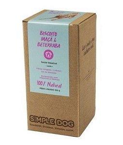 Biscoito para Cães sabor Maça e Beterraba 150g - Simple Dog