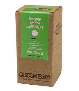 Biscoito para Cães sabor Menta e Espinafre 150g - Simple Dog