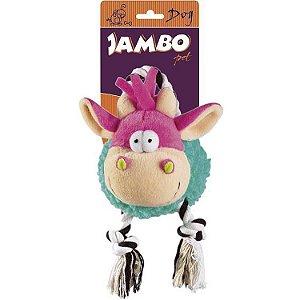 Brinquedo Mordedor de Pelúcia Vaquinha - Jambo