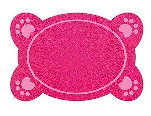 Tapete Vinil para Comedouro Pet Dog Rosa - Kapazi