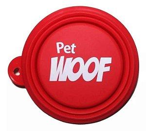 Comedouro e Bebedouro em Silicone Retrátil - Pet Woof