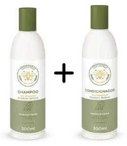 Kit Shampoo e Condicionador Natural para Cães e Gatos 300ml - Propovets
