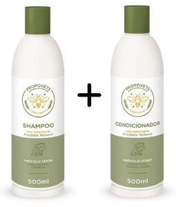 Kit Shampoo e Condicionador Natural para Cães e Gatos 500ml - Propovets