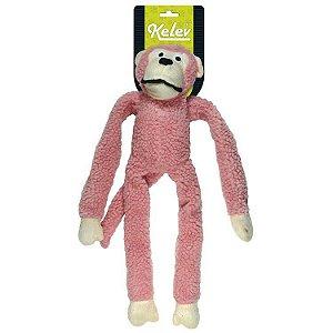 Brinquedo Mordedor de Pelúcia Macaco Rosa – Jambo