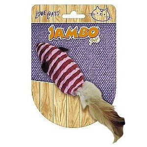 Brinquedo para Gatos Rato com Pena - Jambo