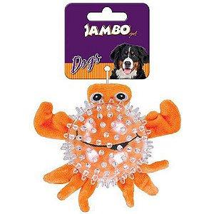 Brinquedo Mordedor de Pelúcia Spiky Ball Caranguejo - Jambo
