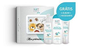 Kit Shampoo, Banho a Seco e Gel Dental - Soft Care Baby