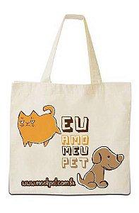 """Ecobag """"Eu amo meu pet"""""""