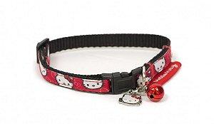 Coleira para gatos rostinho estampado Hello Kitty