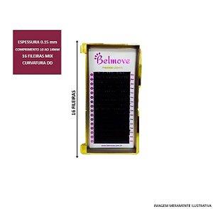 Cílios Mix 10 ao 14mm DD 0.15 16 Fileiras - Belmove