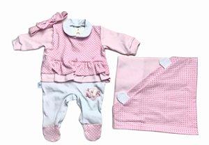 Saída de Maternidade de Suedine Ma - 3 Peças