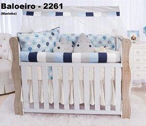 Kit de Berço Baloeiro Azul 11 Peças