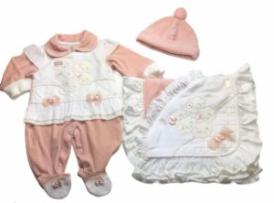 Saída de Maternidade de Plush Ma - 3 Peças