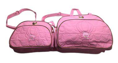 Kit de Bolsa Urso com Balão Rosa
