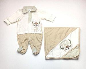 Saída de Maternidade de Malha Mo - 2 Peças