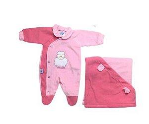 Saída de Maternidade Plush e Soft Ovelinha Ma -  3 Peças