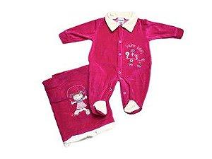 Saída de Maternidade Plush Pink Ma - 2 peças
