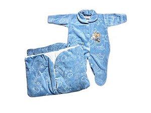 Saída de Maternidade Plush Azul Jeans Mo - 2 Peças