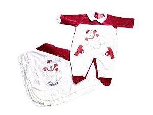 Saída de Maternidade Plush Ursinho Mo -  2 Peças