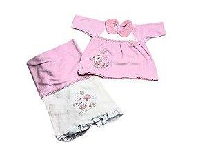 Saída de Maternidade Plush Vestidinho Ma - 2 Peças