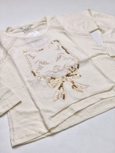 Camiseta Manga Longa Feminina Bordada Bege 4/10